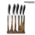 6pcs Kitchen knife set in 430 steel inlay ABS handle