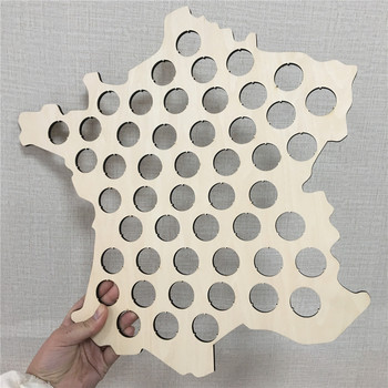 popular Creative  Wooden Beer Cap Map France map