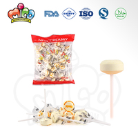 ring shape lollipop milk flavors press candy in bag