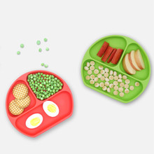 BHD Wholesale Custom Logo FDA Certified BPA free Dishwasher Safe Skidproof Feeding Silicone Toddler <strong>Plates</strong>