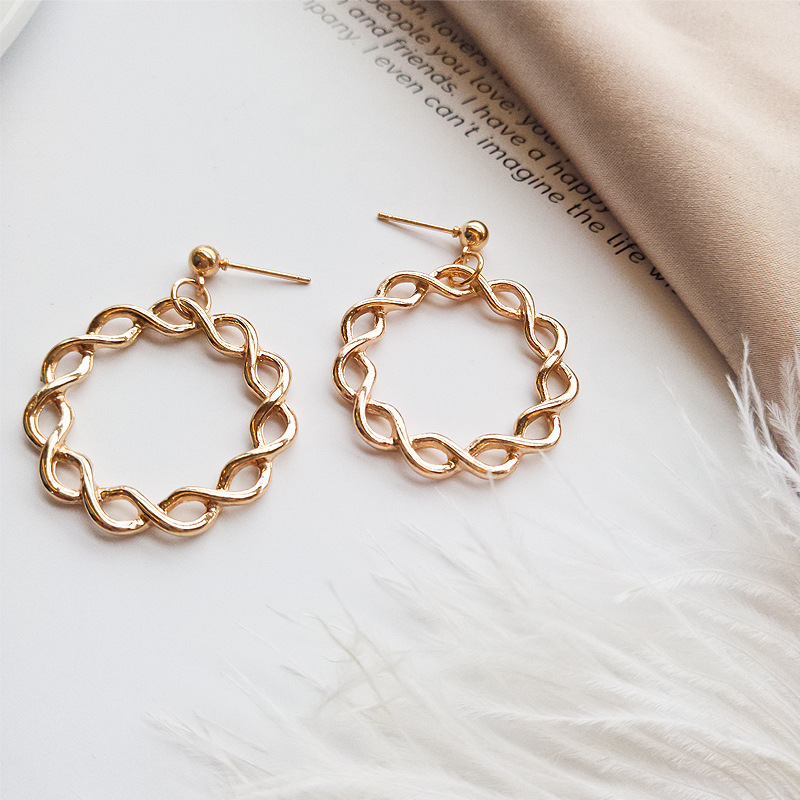 Fashion simple geometric chain <strong>earrings</strong> for women