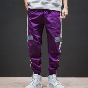 Wholesale Wind Pants Reflective Nylon Windbreaker Track Pants Men