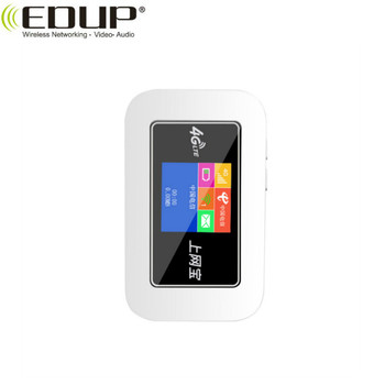 EDUP Brand 4G LTE Mini Color Screen WiFi SIM Card Router With 2100 mah lithium Battery