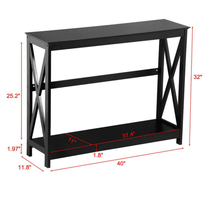 Modern Classic Chic <strong>Furniture</strong> Decor Black Console Table Entryway Hall