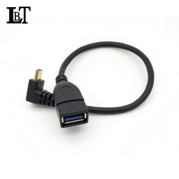 Hot Selling Wholesale Gold-plated OTG USB3.1 Type C Right angle to USB 3.0 Type A Female cable
