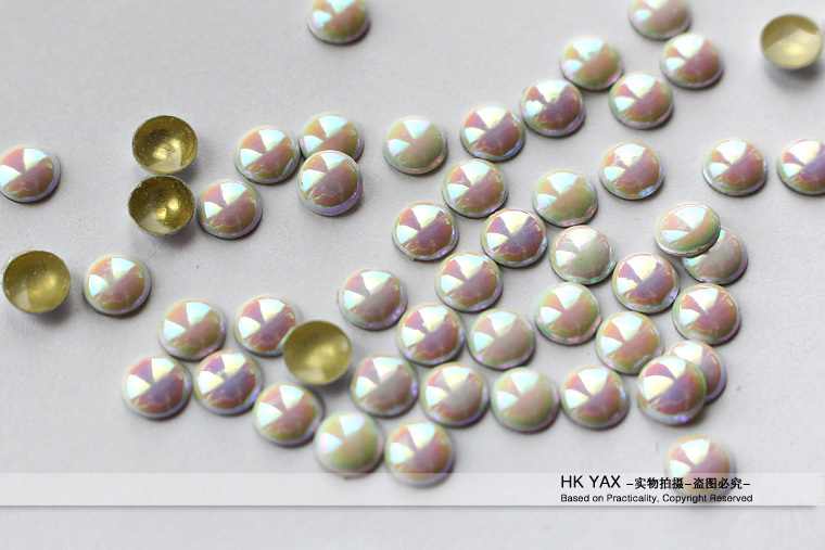 Y0906 hot fix half rhinestone,half ball hotfix 6MM 50gross 8mm 25gross 2mm 1000gross,half balls iron on,transfer half round