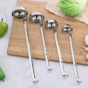 Factory Directly Sell Stainless Steel Hooked Long Handle Ounce Ladle Measuring Spoon Soup Spoon