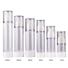 15ml 30ml 50ml AS spot round transparent white cosmetics airless pump spray bottle