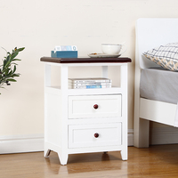 Wood cheap bedroom nightstand bedside table