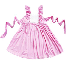 children <strong>party</strong> <strong>dress</strong> smocked girl boutique flutter sleeve baby girls mocking clothes customer`s princess <strong>dress</strong>