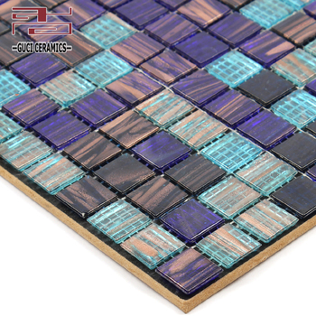 China supply indoor and outdoor swimming pool tile Hot melt gold thread mosaic tile