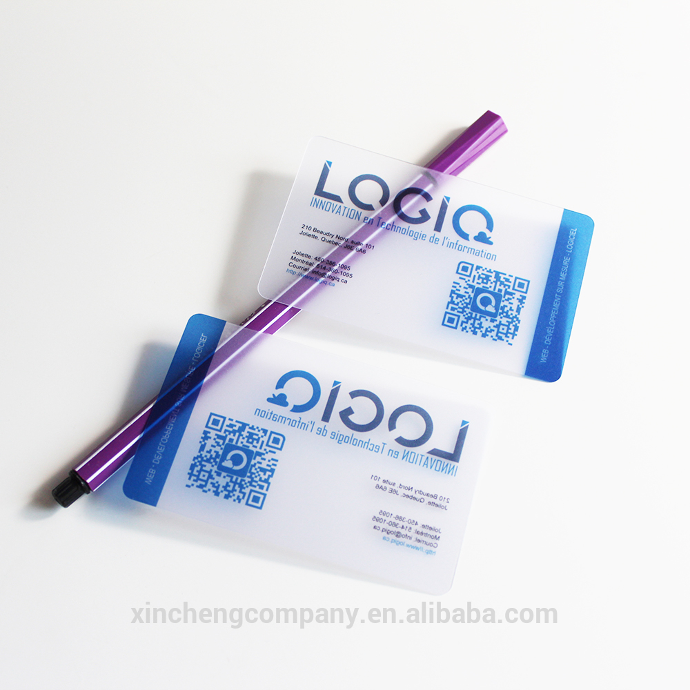 Luxury custom logo pvc clear transparent business card <strong>printing</strong>