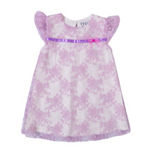 Newest Summer Luscious Embroidery Flower <strong>Girl</strong> Baby <strong>Dress</strong> with Flying Sleeve Mesh