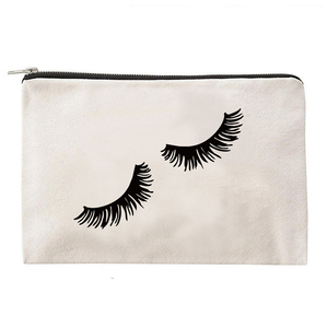 Ginzeal Custom Cotton Bags Cosmetic Bag Makeup Bag With Letter Silk Screen