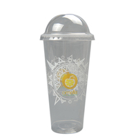 Custom Design Printed Clear Disposable PP PET Plastic Reusable Smoothie Cup