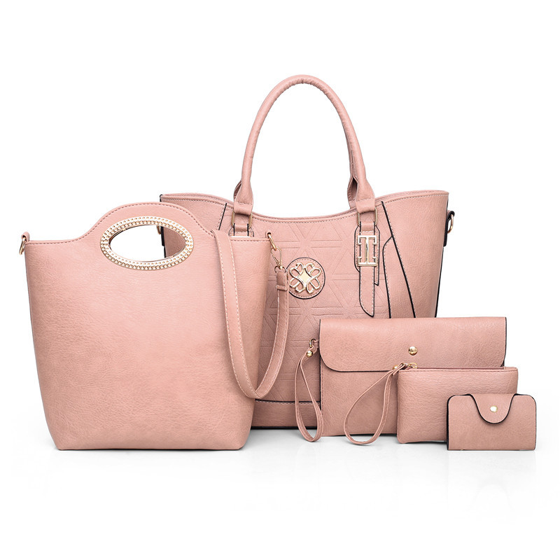 Five Colors Wholesale Custom Small Quantity Ladies Handbag Sets <strong>Manufacturers</strong>