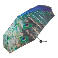 Simple ultra light carbon fiber animal stripe sunny day UV umbrella