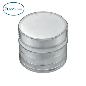 [AP-07] 7g/7ml  white Plastic Round Cosmetic Cream Jar Container Packaging for Skin Care