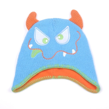 Wholesale Winter cartoon Earflap Polar Fleece Beanie Hats for Children