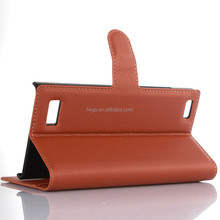 Card Holder Wallet Style PU Leather Case Stand For <strong>Blackberry</strong> Leap Z2 <strong>Phone</strong>