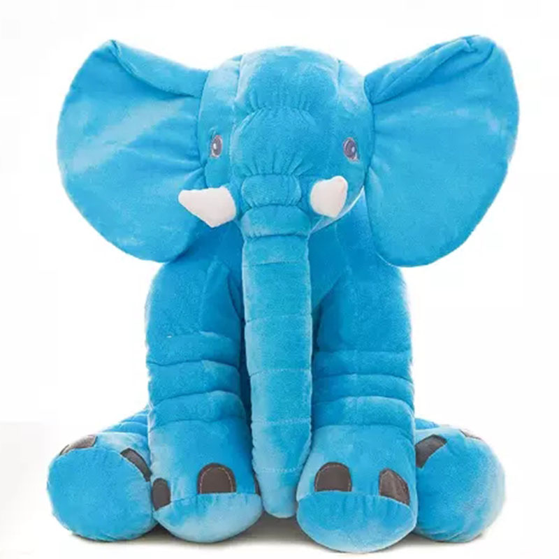 Zogift Latest Cute Cartoon Colorful Baby Animal Pillow Elephant Plush Toy <strong>Doll</strong> for Birthday Gift