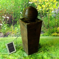 Hight quality solar fountain in home and garden with LED light and battery
