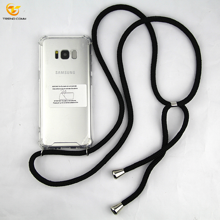 2019 High quality Necklace Shockproof clear <strong>Cell</strong> <strong>Phone</strong> Case For Samsung Galaxy S8