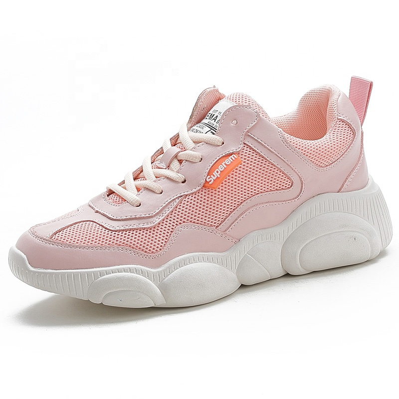 Wholesale 2019 new summer fashion women's shoes sneaker mesh casual pink sports shoes women pink sports shoes air
