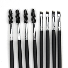 Portable Private Label Eyebrow <strong>Brush</strong> Double End Professional Eyebrow Eyelash Makeup Spoolie <strong>Brushes</strong>