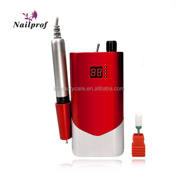 2019 Nailprof 65W New 35000rpm Brushless Cordless Nail Drill Machine BLDC Motor