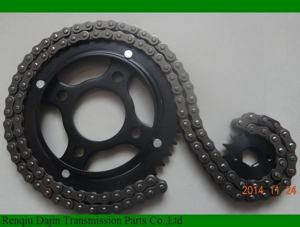 Dajin 1045 steel motorcycle sprocket and chain kits from China manufacture