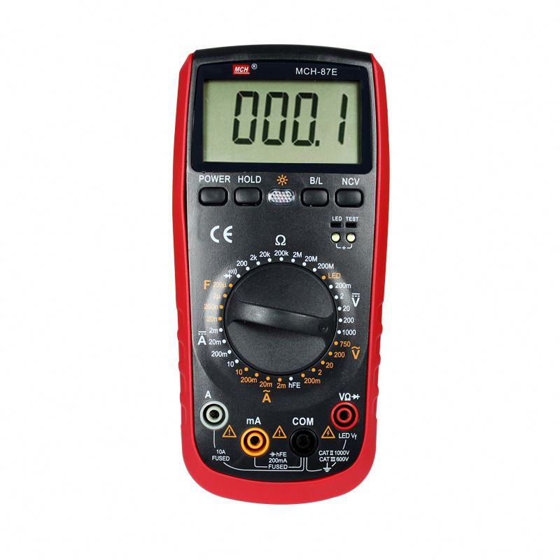 MCH LCD Display 2000 Counts AC DC 10A <strong>Cap</strong>. 200uF, Diode, Triode Digital Multimeter MCH-87E