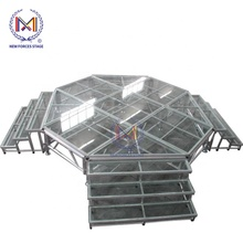Round Stage Platform Scene Removable Plywood Glass Aluminum Stage