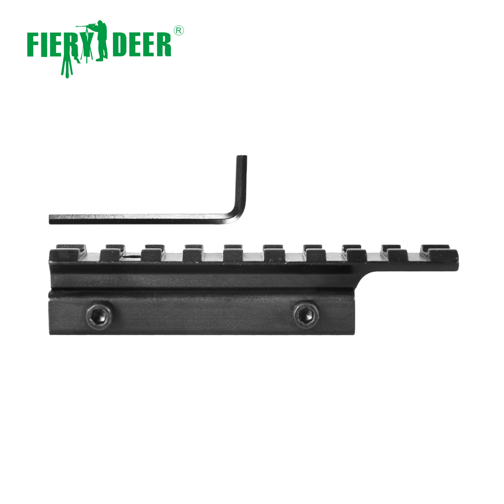 Fiery Deer High Quality 11mm to 20mm Dovetail Rail Adapter Converter Mount Scope Base Aluminum Alloy Black/<strong>D12</strong>