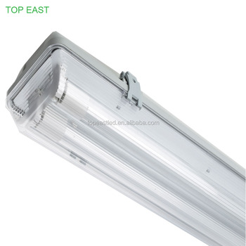 1200mm IP65 40W 120lm/w 4800LM led waterproof lights fixture, PC Base+PC Cover, 5 years warranty