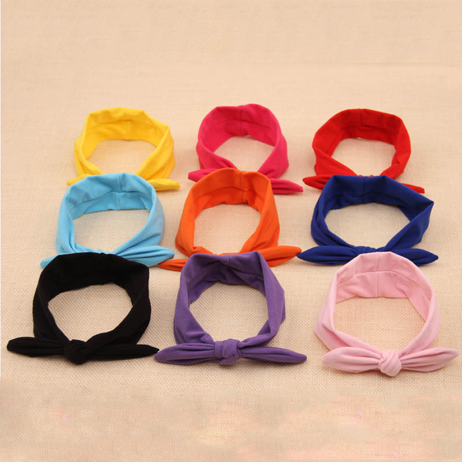 Fashion Knot Headbands Cotton <strong>Hair</strong> <strong>Accessories</strong> for baby Girls Newborn solid <strong>Hair</strong> band Kids Head Wrap Headwear