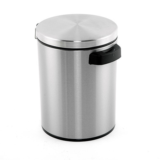 Hot indoor intelligent Commercial Grade Brushed Stainless Steel automatic trash can moveable electronic sensor dustbin
