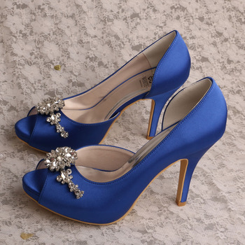 (22 Colors) Small Order High Heels Blue Party