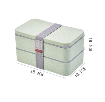 BPA free 2 layers lunch box plastic SW12422012