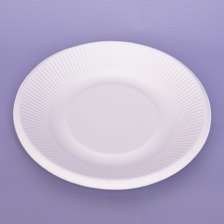 China Cost- Effective 8 Inch Disposable Custom Bagasse Paper Plate