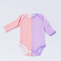 Stripe print 100% cotton baby bodysuit longsleeve onesie comfortable spring wear with high quality sweet style for babies