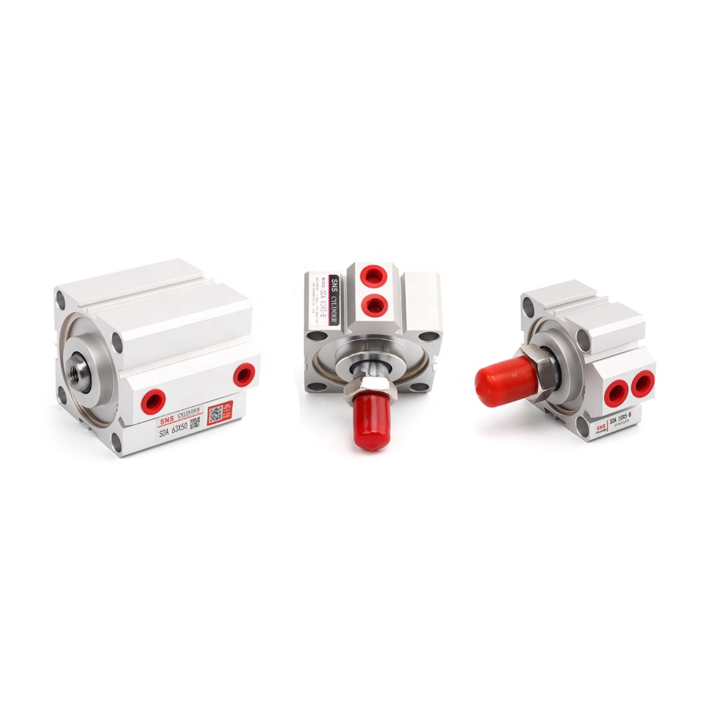 SNS SDA63x50 High quality female thread pneumatic double acting compact air <strong>cylinder</strong>