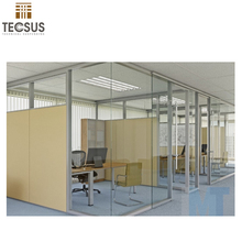 aluminum frame durable sliver glazed glass partition wall
