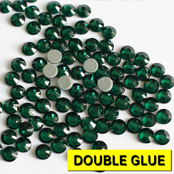 0927W Free ship!! 16SS 4mm Emerald green rhinestone 1440pcs austrian crystal hot fix rhinestones flat back crystal