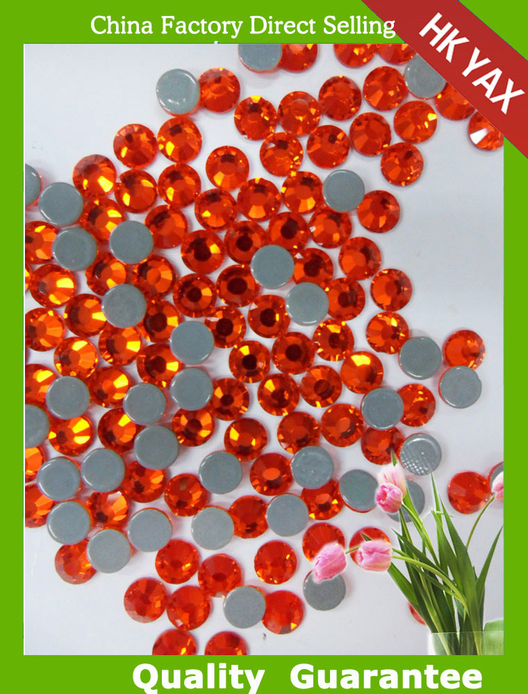 Y0910 Light sun color flat back transfer beads, iron on rhinestones for dress, hotfix silver for garment SS10 SS16 SS20