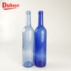 Custom packaging luxury empty blue 750ml glass wine bottle