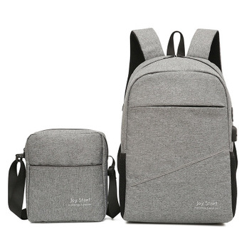 Foreign trade women'sand men's  backpack new Korean fashion backpack set  wild backpack sling bag messenger bag