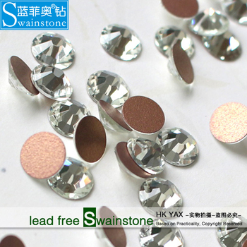 T0804 China factory high quality wholesale crystal glass flat back gems for nail art ss3 ss4 ss5 ss6 ss8 ss12 1.3mm  1.5mm 1.7mm