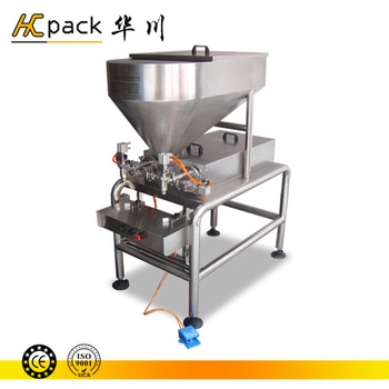 Double-heads semi-automatic liquid soap filling machine