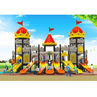 New Design Attractive Cute Popular Children Play Kids Outdoor Playground Equipment with S Slide